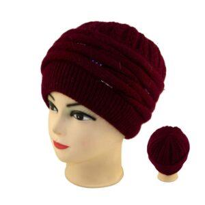 Женская шапка камни S 18-163-0