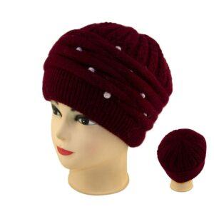 Женская шапка бусы S 18-161-0