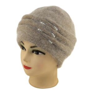 Женская шапка жемчуг 18-979-153