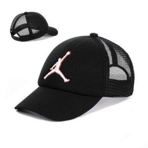 """Мужская бейсболка NCS 02-19 """"Jordan"""" с сеткой Черный белый"""