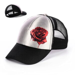 """Бейсболка женская NCB 015 """"Красная роза"""""""