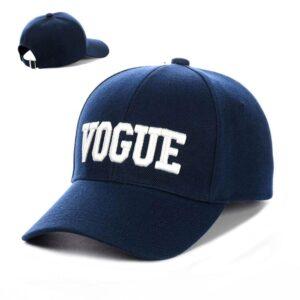"""Бейсболка вышивка """"Vogue"""" NV 19-117 Синий-с-белым"""