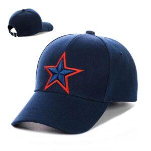 """Бейсболка вышивка """"Star"""" NV 19-116 Синий-с-красным"""