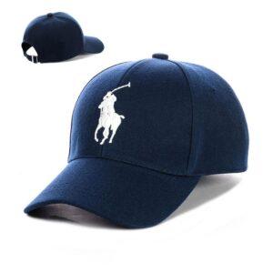 "Бейсболка вышивка ""Polo"" NV 19-112 Синий-с-белым"