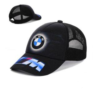 """Мужская бейсболка RC 025 """"BMW"""" Черный"""