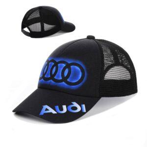 """Мужская бейсболка RC 017 """"Audi"""" Черный"""