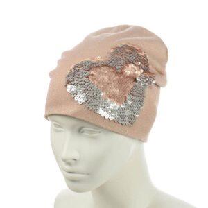 Молодежная шапка с люрексом на флисе S 150308-03