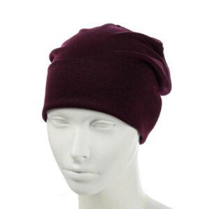 Молодежная шапка бини с отворотом