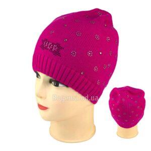 Молодежная шапка E 11 Розовая