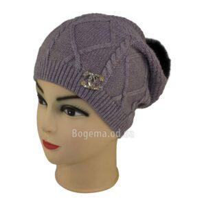 Женская шапка с помпоном 6823