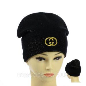 """Подростковая шапка с люрексом для девочек """"Gucci"""" NCP-027"""