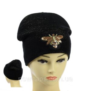 """Подростковая шапка с люрексом для девочек  """"Пчелка"""" NCP-026"""