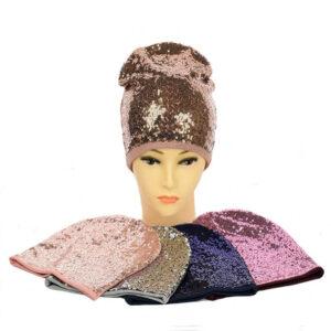 Подростковая шапка с поетками для девочек NCG-025