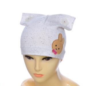 """Детская шапка""""Зайка"""" для девочек NCG-002"""