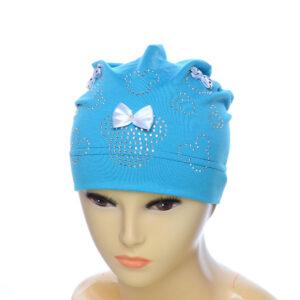"""Детская шапка с камнями  для девочек NCG-016 """"Глория"""""""