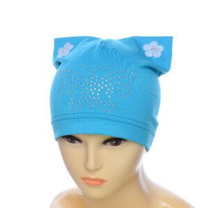 Детская шапка для девочек с ушками NCG-018