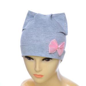 Детская шапка для девочек с ушками NCG-004
