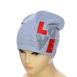 """Детская шапка для девочек NCG-014 """"Love"""""""