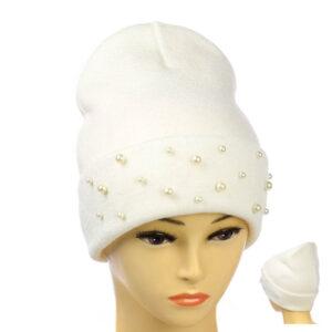 Молодёжная шапка с бусинками MS 19-101