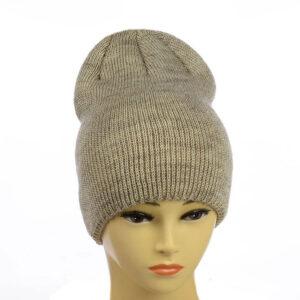 Молодежная вязаная шапка с люрексом MS 19-103