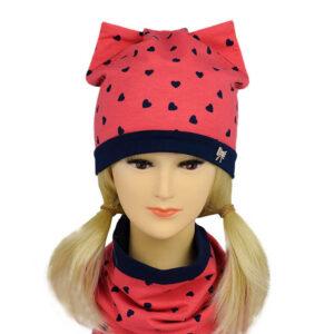 Детский комплект для девочек шапка и снуд NCN 002