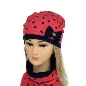 Детский комплект для девочек шапка и снуд NCN 001