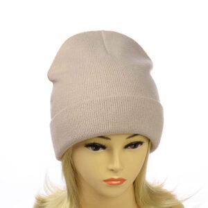 """Женская шапка с отворотом на флисе """"Глория"""" MS 19-025"""