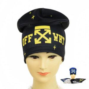 """Детская шапка для мальчиков KID 023 """"Off White"""""""