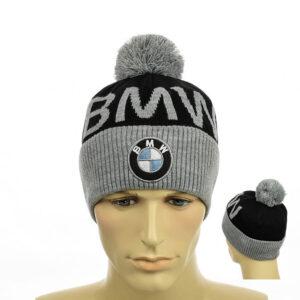 "Молодежная мужская шапка с помпоном ""BMW"" NCMY 312"
