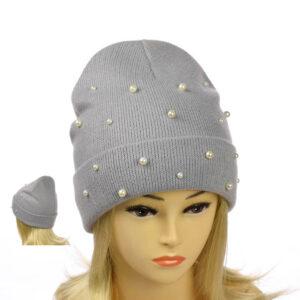 """Женская шапка с отворотом """"Николь"""" MS 19-024"""