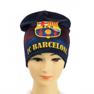"""Детская шапка для мальчиков KID 018 """"FC Barcelona"""""""